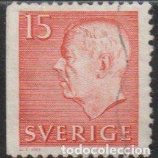 Sellos: SUECIA 1961 SCOTT 581 SELLO º KING GUSTAV VI ADOLF MICHEL 468DL YVERT 460A SWEDEN STAMPS TIMBRE. Lote 243618945