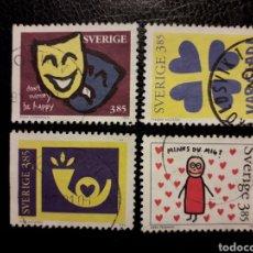 Sellos: SUECIA YVERT 1933/6 SERIE COMPLETA USADA 1996. DISEÑOS ALUMNOS ARTES GRÁFICAS. PEDIDO MÍNIMO 3 €. Lote 244759725