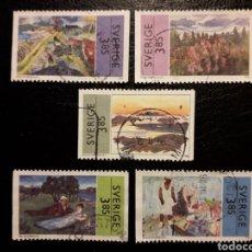 Sellos: SUECIA YVERT 1927/31 SERIE COMPLETA USADA 1996. PINTURAS. PEDIDO MÍNIMO 3 €. Lote 244783595