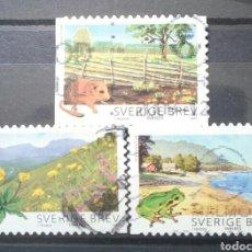 Sellos: SUECIA 2009 FAUNA Y FLORA PARQUES NACIONALES SERIE DE SELLOS USADOS. Lote 245154835