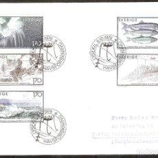 Selos: SUECIA.1979. SPD/FDC. INVESTIGACIÓN MARINA. Lote 250311830