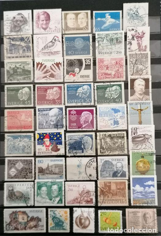 SUECIA, LOTE 50 SELLOS DIFERENTES . *,MH( 21-197) (Sellos - Extranjero - Europa - Suecia)