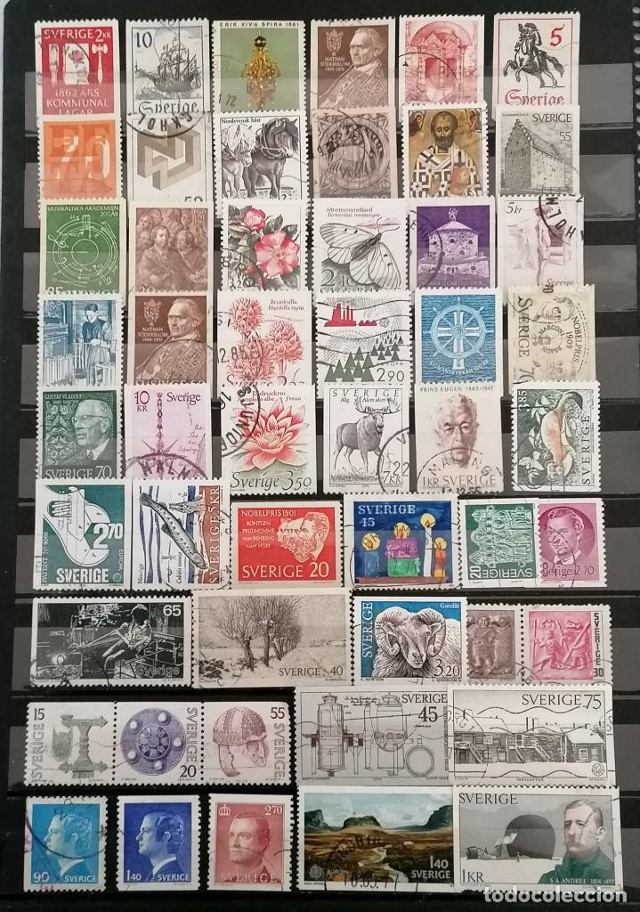 SUECIA, LOTE 50 SELLOS DIFERENTES . *,MH( 21-199) (Sellos - Extranjero - Europa - Suecia)