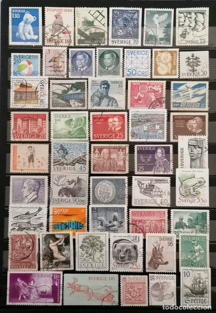 SUECIA, LOTE 50 SELLOS DIFERENTES . *,MH( 21-198) (Sellos - Extranjero - Europa - Suecia)