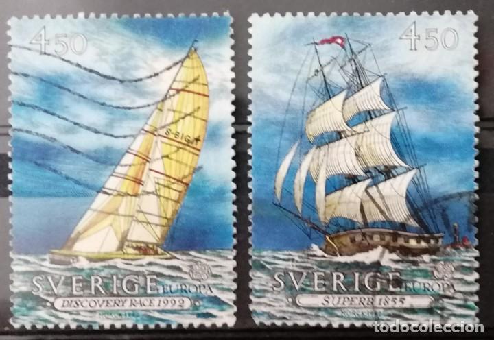 SUECIA 1992. 500 ANIV, DESCUBRIMIENTO DE AMERICA . * MH( 21-243) (Sellos - Extranjero - Europa - Suecia)