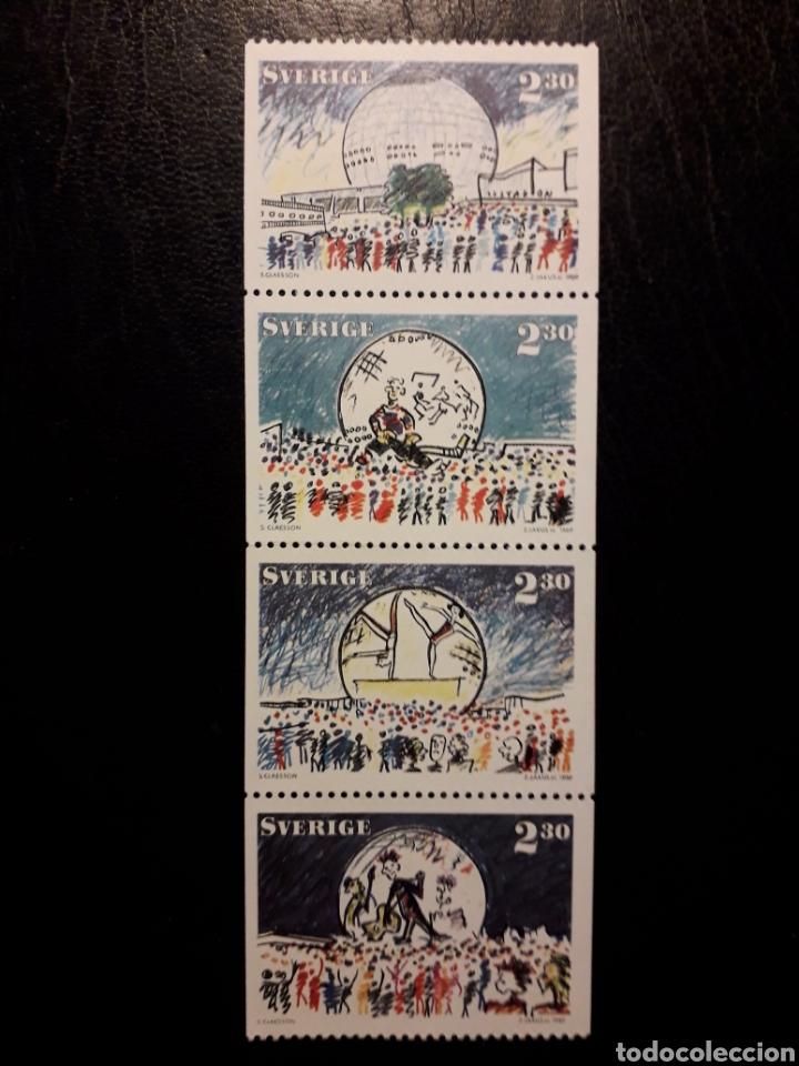 SUECIA YVERT 1512/5 SERIE COMPLETA NUEVA ***. 1989. PALACIO MULTIUSOS ESTOCOLMO. PEDIDO MÍNIMO 3€ (Sellos - Extranjero - Europa - Suecia)