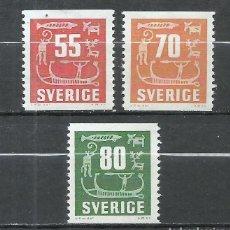Sellos: SUECIA - 1957 - MICHEL 431/433** MNH. Lote 257634115