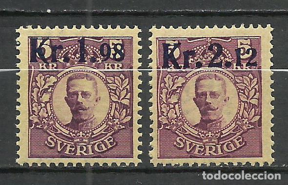 SUECIA - 1917 - MICHEL 107/108** MNH (Sellos - Extranjero - Europa - Suecia)