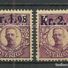 Sellos: SUECIA - 1917 - MICHEL 107/108** MNH. Lote 257635695