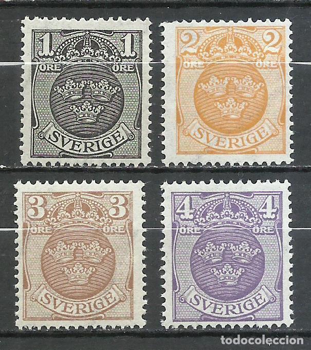SUECIA - 1911 - MICHEL 64/67** MNH (Sellos - Extranjero - Europa - Suecia)