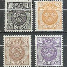 Sellos: SUECIA - 1911 - MICHEL 64/67** MNH. Lote 257636055