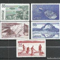 Sellos: SUECIA - 1976 - MICHEL 945/949 MNG (SIN GOMA). Lote 261560990