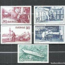 Sellos: SUECIA - 1975 - MICHEL 913/917 MNG (SIN GOMA). Lote 261562530
