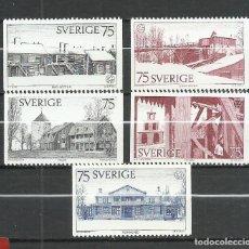 Sellos: SUECIA - 1975 - MICHEL 918/912 MNG (SIN GOMA). Lote 261564360