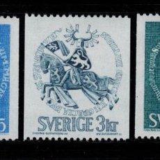 Sellos: SUECIA 652/54** - AÑO 1970 - HISTORIA DE SUECIA. Lote 262268120