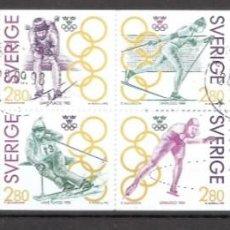 Sellos: SUECIA.1992. CARNET .C1682. DEPORTES. OLIMPIADAS.. Lote 262723305