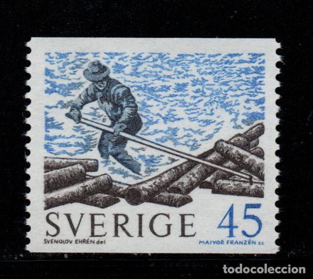 SUECIA 651** - AÑO 1970 - ENVIO DE MADERA POR RIO (Sellos - Extranjero - Europa - Suecia)