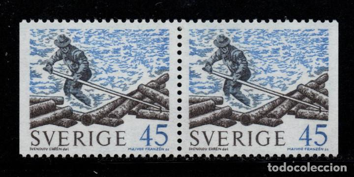 SUECIA 651B** - AÑO 1970 - ENVIO DE MADERA POR RIO (Sellos - Extranjero - Europa - Suecia)