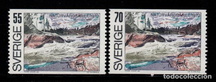 SUECIA 655/56** - AÑO 1970 - AÑO EUROPEO DE LA CONSERVACION DE LA NATURALEZA (Sellos - Extranjero - Europa - Suecia)