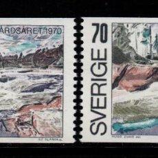 Sellos: SUECIA 655/56** - AÑO 1970 - AÑO EUROPEO DE LA CONSERVACION DE LA NATURALEZA. Lote 262778085