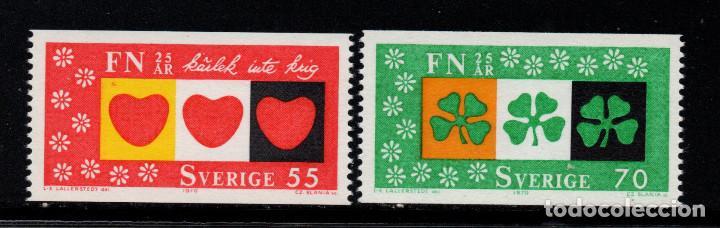 SUECIA 671/72** - AÑO 1970 - 25º ANIVERSARIO DE NACIONES UNIDAS (Sellos - Extranjero - Europa - Suecia)