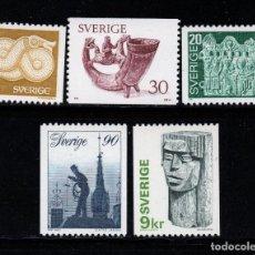 Sellos: SUECIA 934/38** - AÑO 1976 - ARQUEOLOGIA - ANTIGUEDADES. Lote 262779735
