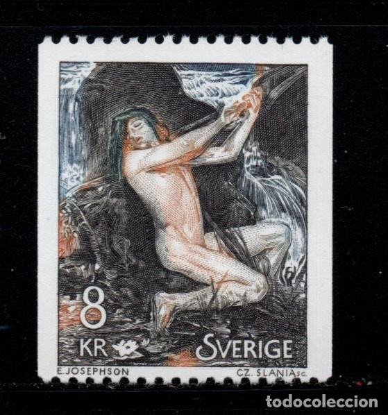 SUECIA 1114** - AÑO 1980 - PINTURA - OBRA DE ENRST JOSEPHSON (Sellos - Extranjero - Europa - Suecia)