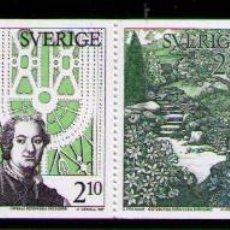 Sellos: SUECIA 1987 - JARDINES BOTANICOS - YVERT Nº 1432/1435**. Lote 262785155