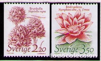 SUECIA 1985 - FLORES - YVERT Nº 1306/1307** (Sellos - Extranjero - Europa - Suecia)