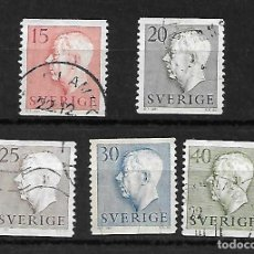 Sellos: GUSTAVO VI, REY. SUECIA . SELLOS AÑO 1957. Lote 268818684