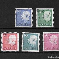 Sellos: GUSTAVO VI, REY. SUECIA . SELLOS AÑOS 1967/71. Lote 268818989
