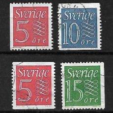 Sellos: CIFRAS. SUECIA. SELLOS AÑOS 1961/8. Lote 268819314