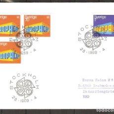 Sellos: SUECIA. 1969. FDC. EUROPA. CEPT. Lote 269588378