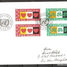 Sellos: SUECIA. 1970. FDC. 25 ANIVERSARIO DE LA ONU. Lote 269588498