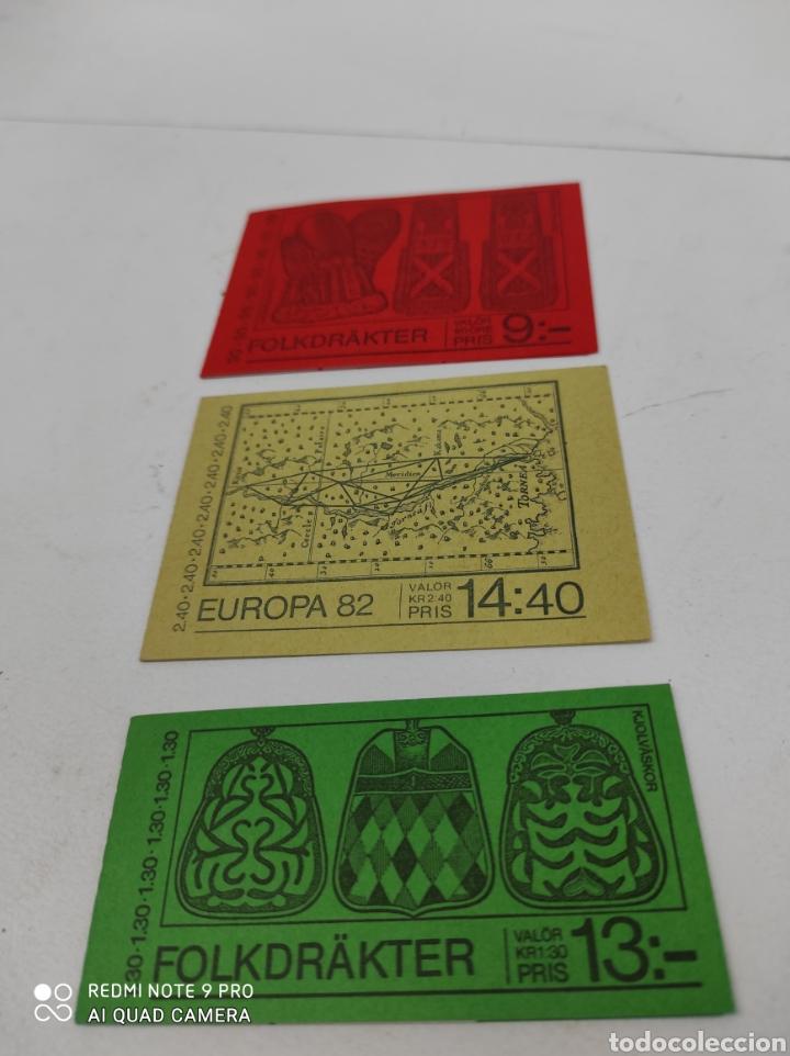 TRES CARNETS DE SELLOS DE SUECIA NUEVOS DE LOS 80 (Sellos - Extranjero - Europa - Suecia)