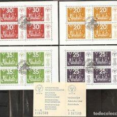 Sellos: SUECIA. 1974. HB. 2,3,4,5. STOCKHOLMIA 74. Lote 277135683