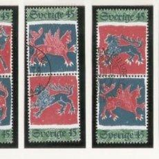 Sellos: SUECIA. 1974. YT 849/859 NAVIDAD. ANIMALES DE FÁBULA. Lote 277139808