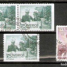 Sellos: SUECIA. 1975. YT 871, 871A,872. Lote 277141343