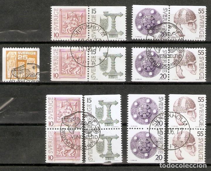 SUECIA. 1975. YT 877, 873/876 PARES HORIZONTALES Y VERTICALES. (Sellos - Extranjero - Europa - Suecia)