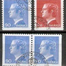 Sellos: SUECIA. 1975. YT 878,879,878A. REY CHARLES XVI GUSTAVE. Lote 277144223