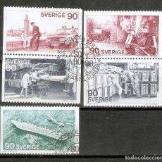 Sellos: SUECIA. 1975. YT 895/899. Lote 277145243