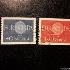 Sellos: SUECIA YVERT 454/5 SERIE COMPLETA USADA 1960 EUROPA CEPT PEDIDO MÍNIMO 3 €. Lote 277205018