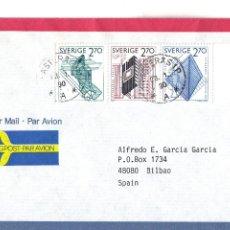 Sellos: CORREO AEREO: SUECIA 1990. Lote 277219778