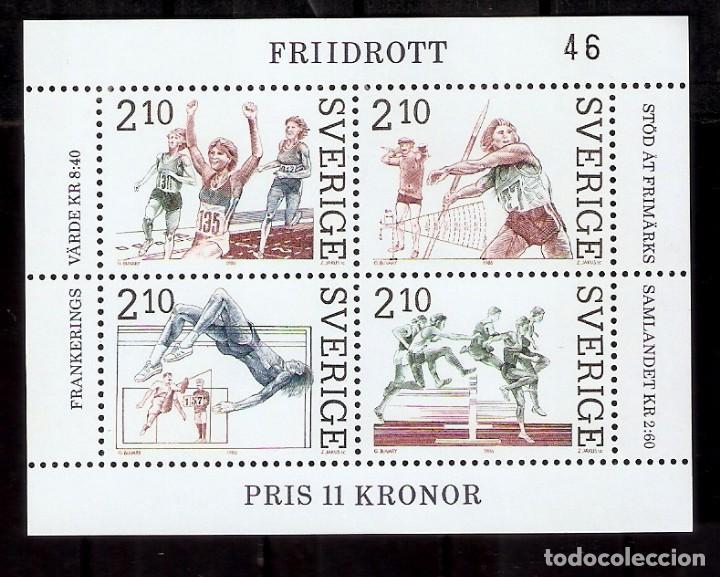 SUECIA.1986. HB. YT 14. DEPORTES. ATLETISMO (Sellos - Extranjero - Europa - Suecia)