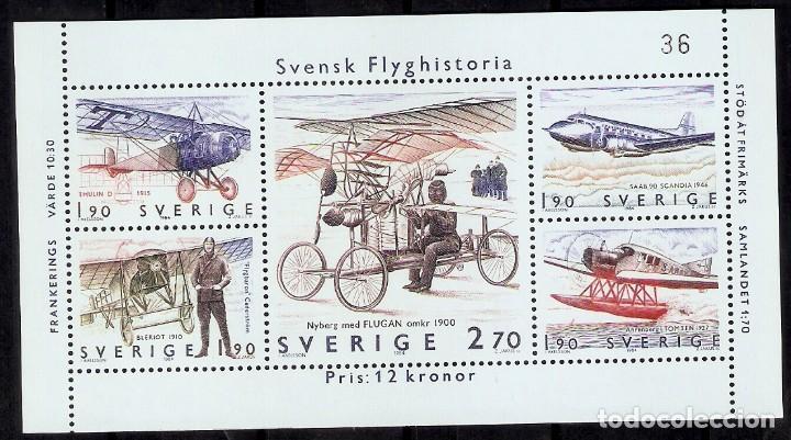SUECIA.1984. HB. YT 12. AVIACIÓN. AVIONES (Sellos - Extranjero - Europa - Suecia)