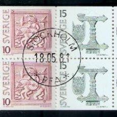 Sellos: SUECIA.1975. YT 873/876. CARNET C873. Lote 278323063