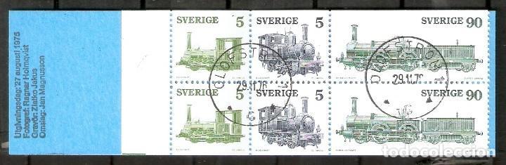 SUECIA.1975. YT892/894. CARNET C892. LOCOMOTORA A VAPOR. (Sellos - Extranjero - Europa - Suecia)