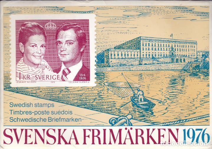 1976 AÑO COMPLETO DE SUECIA CON TODOS LOS SELLOS EMITIDOS EN 1976 EN SU CARPETA OFICIAL (Sellos - Extranjero - Europa - Suecia)