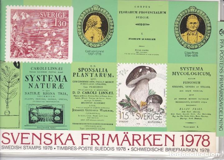 1978 AÑO COMPLETO DE SUECIA CON TODOS LOS SELLOS EMITIDOS EN 1978 EN SU CARPETA OFICIAL (Sellos - Extranjero - Europa - Suecia)