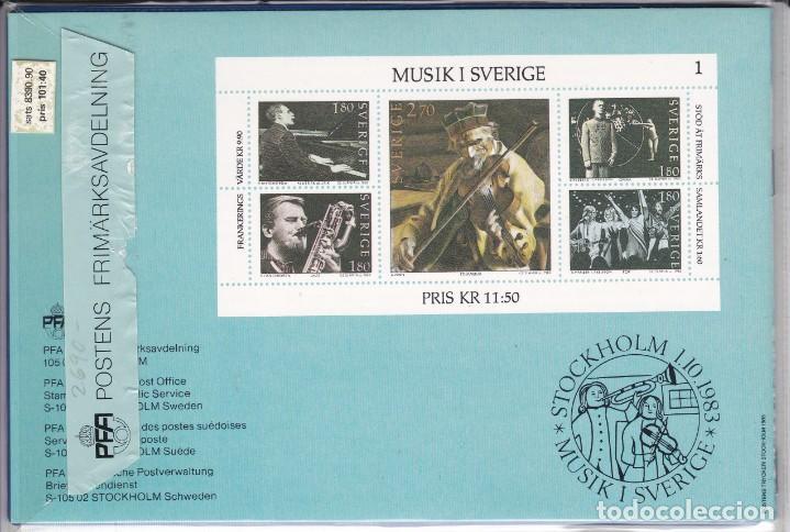 Sellos: 1983 AÑO COMPLETO DE SUECIA CON TODOS LOS SELLOS EMITIDOS EN 1983 EN SU CARPETA OFICIAL - Foto 2 - 287735858